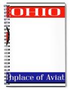 Ohio License Plate Spiral Notebook