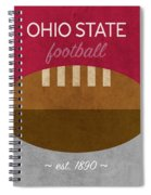 Ohio State Football Minimalist Retro Sports Poster Series 003 Spiral Notebook