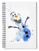 Olaf Watercolor Spiral Notebook