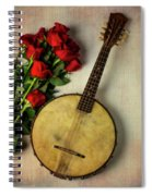 Old Banjo And Roses Spiral Notebook