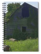 Old Barn And Hay Bales 2 Spiral Notebook