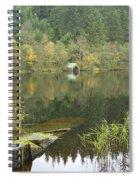 old boathouse at Loch Ard near Aberfoyle in autumn Spiral Notebook