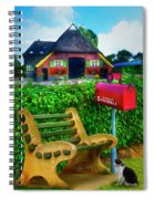 Old Dutch Cottage Painting Spiral Notebook