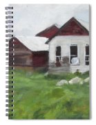 Old Farm Buildings Spiral Notebook