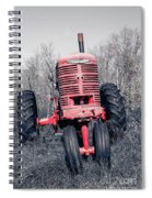 Old Farmall Farm Tractor Color Separation Nh Spiral Notebook