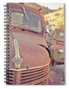 Old Friends Two Rusty Vintage Cars Jerome Arizona Spiral Notebook