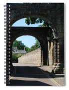 old historic town gate in Hexham Spiral Notebook