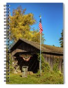 Old Hollow Covered Bridge Spiral Notebook