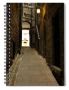 old medieval close in Edinburgh Spiral Notebook