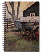 Old Milk Wagon Spiral Notebook