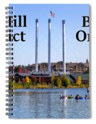 Old Mill District Bend Oregon Spiral Notebook