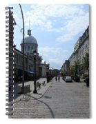 Old Montreal Market Spiral Notebook