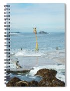 old pier at North berwick and Forth estuary Spiral Notebook