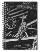 Old Postage Insignia Spiral Notebook