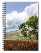 Old Scottish Farmlands Under The Clouds Spiral Notebook