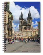 Old Town Square Prague Czech Republic  Spiral Notebook