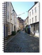 old town street in Hexham Spiral Notebook