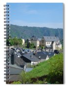 old town walls and church and buildings of Cochem Spiral Notebook