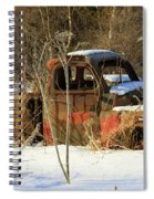 Old Truck In Winter Snow In Hope Alaska Spiral Notebook