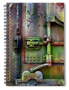 Old Weathered Railroad Boxcar Door Spiral Notebook