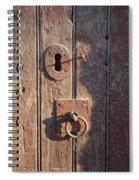 Old Wooden Door And Keyhole Spiral Notebook