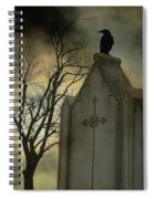 Ominous Clouds Surround Crow Spiral Notebook