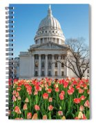 On A Bed Of Tulips Spiral Notebook