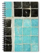 On A Theme Of Turquoise And Black Spiral Notebook