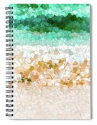 On The Beach Abstract Painting Spiral Notebook