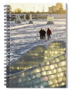 On The Ice Spiral Notebook