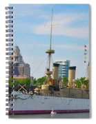 On The Waterfront - The Monitor - Philadelphia Spiral Notebook