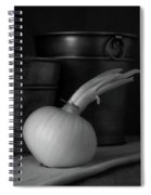 Onion In Black And White Spiral Notebook