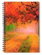 Orange Fall Spiral Notebook