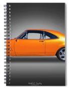 Orange Glow Spiral Notebook