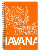 Orange Map Of Havana Spiral Notebook