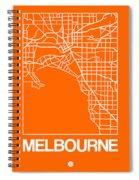 Orange Map Of Melbourne Spiral Notebook