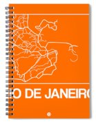 Orange Map Of Rio De Janeiro Spiral Notebook
