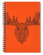 Orange Moose Spiral Notebook