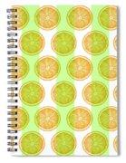 Orange Slice Pattern 2 - Tropical Pattern - Tropical Print - Lemon - Orange - Fruit - Tangerine Spiral Notebook