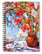Orange Trumpet Flowers Spiral Notebook