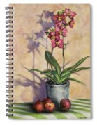 Orchids And Plums Spiral Notebook