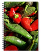 Organic Red And Green Peppers Spiral Notebook