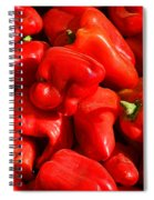 Organic Red Peppers Spiral Notebook