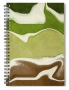 Organic Wave 1- Art By Linda Woods Spiral Notebook