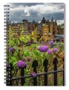 Overlooking The Train Station In Edinburgh Spiral Notebook