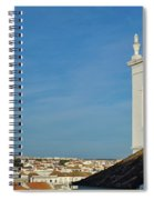Overview Of Tavira City. Portugal Spiral Notebook