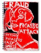 Pablo Picasso Attack 6 Spiral Notebook