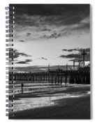 Pacific Park - Black And White Spiral Notebook