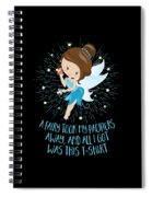 Pacifier Fairy Gift Idea Paci Fairy For Girlsboys Spiral Notebook