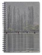Paddling Under Poplars Spiral Notebook
